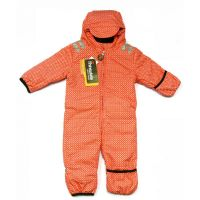 Baby Schneeoverall funky red