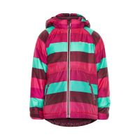 MN Winterjacke wine/mint/pink  gestreift