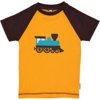 MM Kurzarm-Shirt Zug orange PRINT, BIO