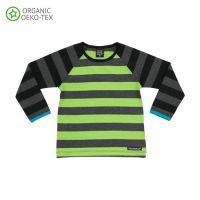 VV Langarm-shirt avocado/night gestreift