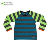 VV Langarm-shirt pacific/avocado gestreift