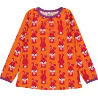 MM Langarm-Shirt A-Line Hase orange, BIO