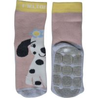 ME Anti-Rutsch-Socken ABS Hund rosa
