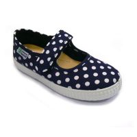 NW Eco-Ballerinas Dots navy
