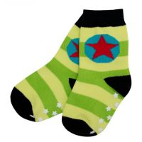 VV ABS Socken apple/lime gestreift