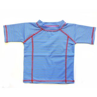 Badeshirt UV 50+ ,blue stripes