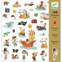 Djeco Sticker Piraten 160 St