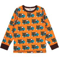 MM Langarm-Shirt Truck orange, BIO