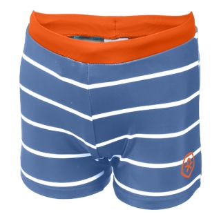 CC Badehose blau/weiß gestreift orange