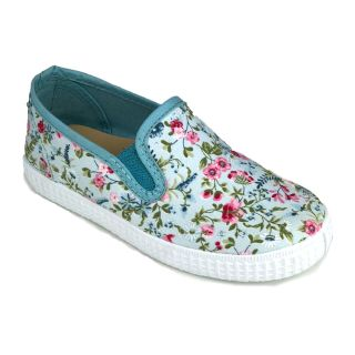 NW Eco-Slipper mit Blumen mint