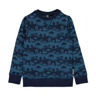 MM Sweatshirt blue Landscape, BIO 110/116 (5-6j)