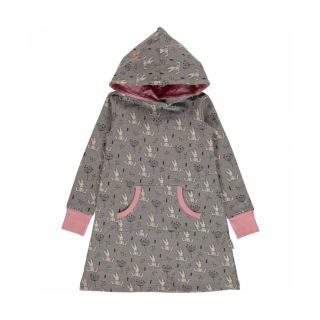 MM Sweatkleid Sweet Bunny grau, BIO 74/80 (9-12M)