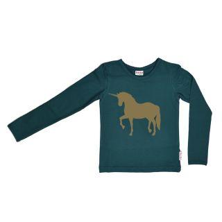 wholesale dealer 7ec3f e96df BB Langarm-Shirt grün mit goldenem Einhorn, Bio