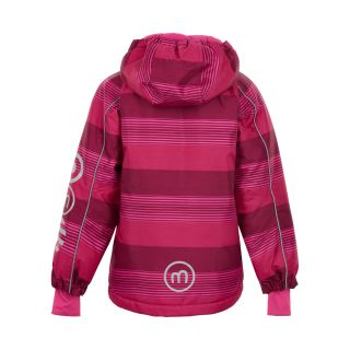 MN Winterjacke pink/bordeaux gestreift 122