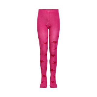 MN Strumpfhose pink rote Sterne 80-86
