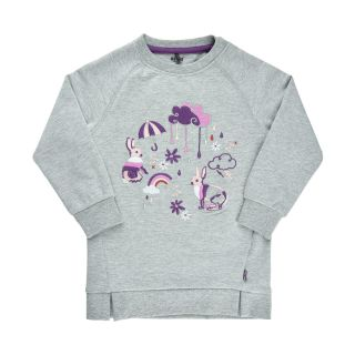 MT Sweatshirt-Tunika grey melange/lila