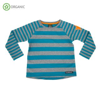 VV Langarm-shirt atlantic/grey gestreift 122
