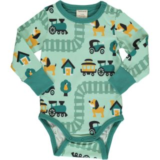 MM Langarm-Body Zug mint, Bio 74/80 (6-12M)