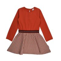 BB Kleid LS orange Cubes, Bio