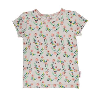 BB Kurzarm-Shirt Bird rosa,Bio 104